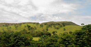 Un paisaje verde sobre el cielo azul foto de archivo libre de regalías