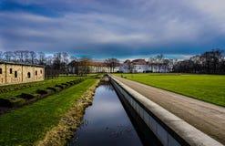 Un palazzo barrocco in Oranienburg Immagine Stock Libera da Diritti