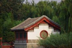 Un palazzo di grande giardino di vista Immagine Stock Libera da Diritti