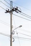 Un palo di telefono Fotografia Stock Libera da Diritti