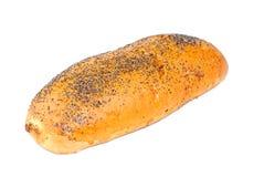 Un pan del pan en un blanco Fotografía de archivo