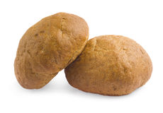 Un pan del pan en un fondo blanco Fotos de archivo libres de regalías