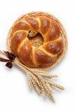 Un pan del pan fresco asperja con el germen de amapola. Fotos de archivo
