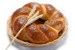 Un pan del pan fresco asperja con los gérmenes de amapola. Foto de archivo libre de regalías