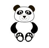 Un panda mignon de bande dessinée Photographie stock