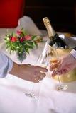 Un pane tostato di Champagne Fotografia Stock
