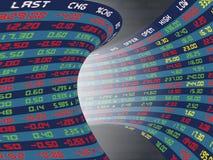 Un panel de exhibición del mercado de acción diario stock de ilustración