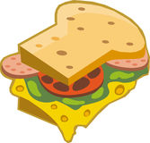 Un panino Immagine Stock Libera da Diritti