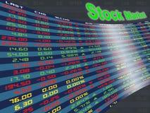 Un panneau d'affichage de marché boursier quotidien Photo stock