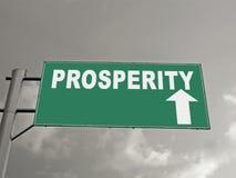 Un panneau d'affichage sur une autoroute nationale montrant la prospérité en avant, C Photo libre de droits