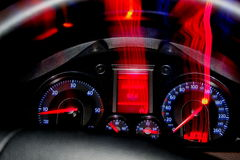 Un panneau des dispositifs est à VW B6 de voiture Photo stock