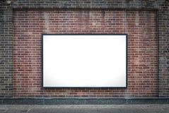 Un panneau en blanc Photographie stock libre de droits