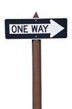 Un panneau routier des Etats-Unis de manière Images libres de droits