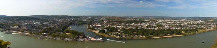 Un panorama de la esquina alemán Foto de archivo libre de regalías
