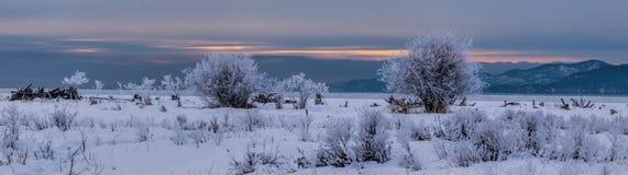 Un panorama de lever de soleil Photos stock