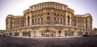 Un panorama del palacio del parlamento Foto de archivo