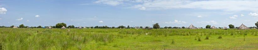 un panorama di 180 gradi del Sudan del sud Immagini Stock Libere da Diritti