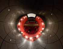 Un panorama di 360 gradi del corridoio del cinematografo Fotografie Stock Libere da Diritti