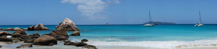 Un panorama en la playa Fotografía de archivo libre de regalías
