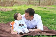 Un papá y su hija Imagen de archivo