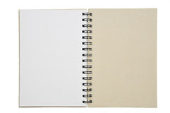 Un papel abierto del cuaderno Imagen de archivo