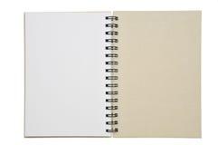 Un papier ouvert de cahier Image stock