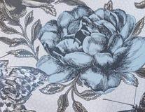 Un papier peint de fond avec des fleurs Images libres de droits
