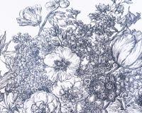 Un papier peint de fond avec des fleurs Image stock