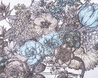 Un papier peint de fond avec des fleurs Photo libre de droits