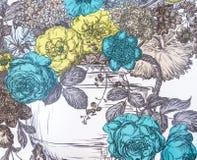 Un papier peint de fond avec des fleurs Image libre de droits