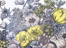 Un papier peint de fond avec des fleurs Photographie stock