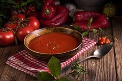 Un paprika-Tomaten - soupe Photo libre de droits