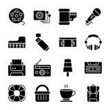 Un paquet d'icônes de vecteur de Glyph d'UI illustration libre de droits