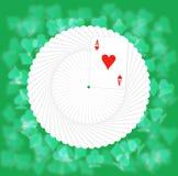 Un paquet des cartes de jeu, le ventilateur d'expansion. Images libres de droits