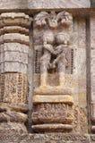 Un par amoroso, templo de Sun, Konarak Fotografía de archivo libre de regalías