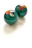 un par de bolas antiesfuerzas chinas Fotos de archivo