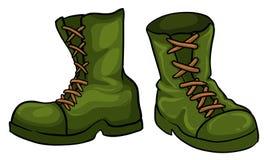 Un par de botas verdes libre illustration