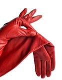 Un par de guantes de cuero para mujer elegantes Foto de archivo libre de regalías