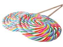 Un par de lollys coloridos en perspectiva Foto de archivo
