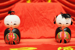 un par de marioneta Foto de archivo libre de regalías