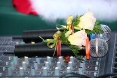 Un par de micrófonos imagen de archivo libre de regalías