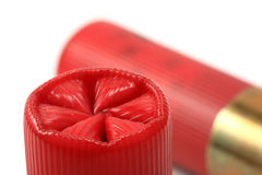 Un par de shelles de escopeta rojos Foto de archivo
