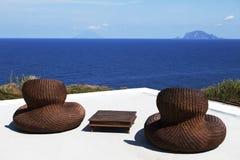 Un par de sillas de playa Imagenes de archivo