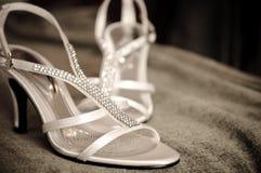 Un par de zapato de la boda Fotografía de archivo