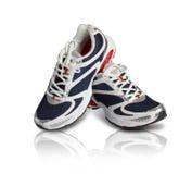 Un par de zapatos con clase de los deportes Imagen de archivo libre de regalías
