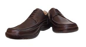 Un par de zapatos negros Imagen de archivo libre de regalías