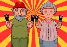 Un par dulce Personas mayores de moda Fotografía de archivo libre de regalías