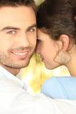 Un par en amor Foto de archivo libre de regalías
