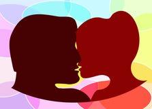 Un par que se besa Foto de archivo