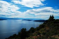 Un paraíso azul en la tierra fotos de archivo libres de regalías